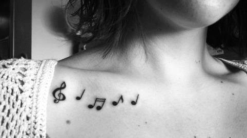 Müzik Notası Dövme Modelleri
