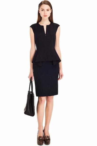 Ofis Siyah Elbise Kombini