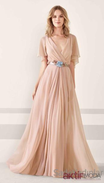 Pudra Abiye Elbise Modelleri