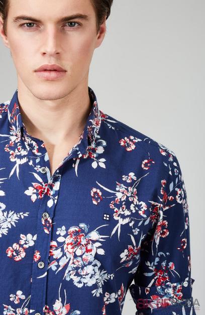 Çiçekli Erkek Gömleği