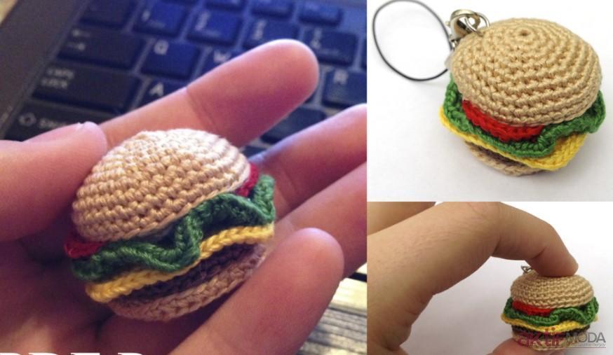 Amigurumi Hamburger Anahtarlık Yapımı