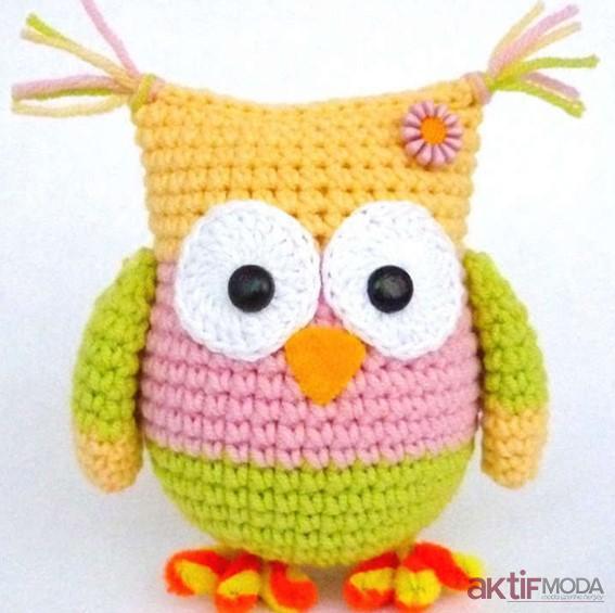 Amigurumi Renkli Baykuş Yapımı