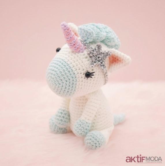 Amigurumi - Gökkuşağı Unicorn Yapımı - Örgü Modelleri | 575x572