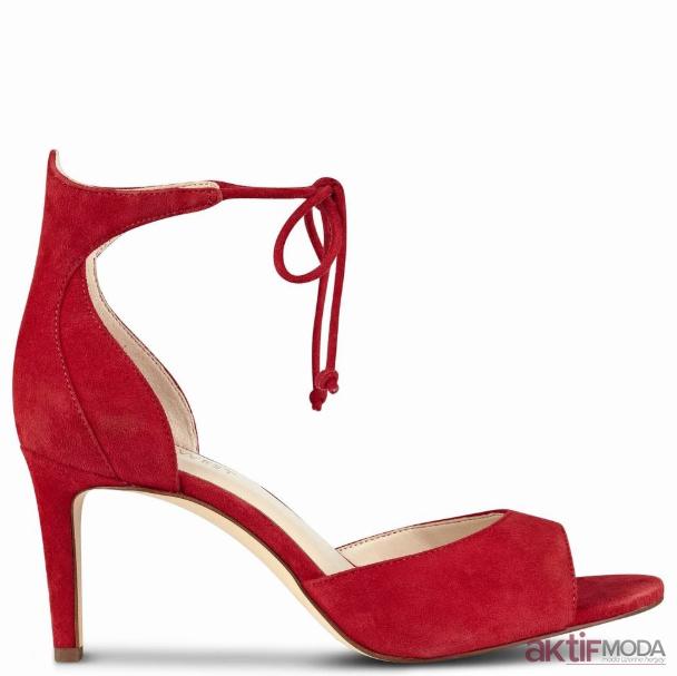 Kırmızı Açık Topuklu Ayakkabı Modelleri
