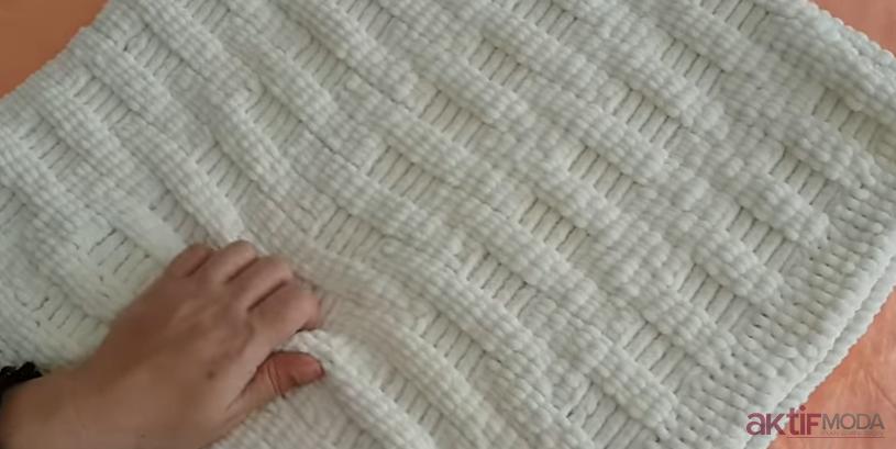 Kadife İp Bebek Battaniye Modelleri