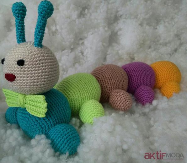 Amigurumi Crochet Tırtıl Free Pattern Yapımı | 519x596