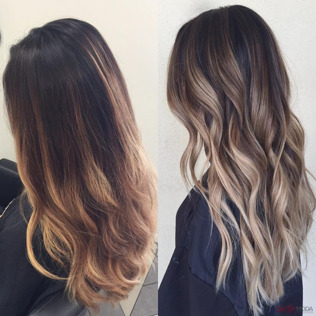 2018 yeni saç trendi sombre ile ışıltılı saçlar