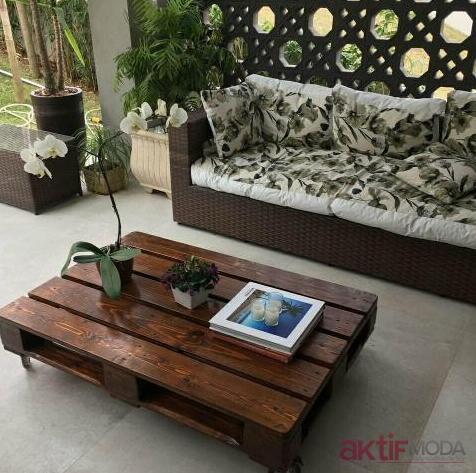 Ahşap Paletten Bahçe Mobilyaları