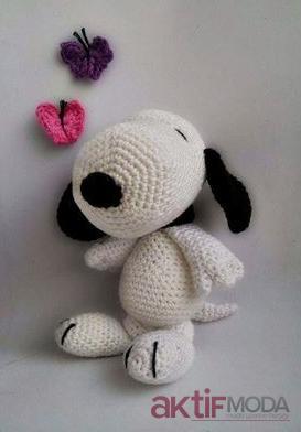 Amigurumi Snoopy Oyuncak