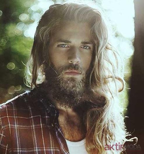 Erkek Dağınık Uzun Saç Modelleri