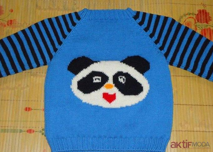 Gülen Pandalı Kazak Modelleri