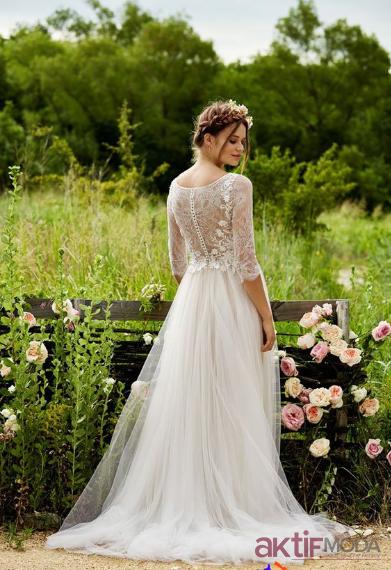 Kır Düğünü Uzun Gelinlik Modelleri
