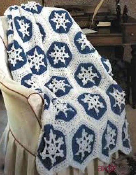 Koltuk Örtüsü Kar Tanesi Battaniye Modelleri