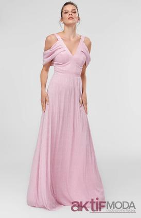 Omuz Dekolteli Abiye Elbise Modelleri