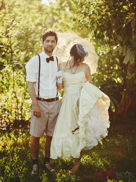 Vintage Kır Düğünü Gelinlik Modelleri
