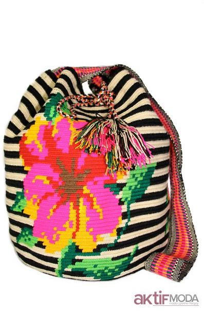 Çiçekli Wayuu Çanta Modelleri