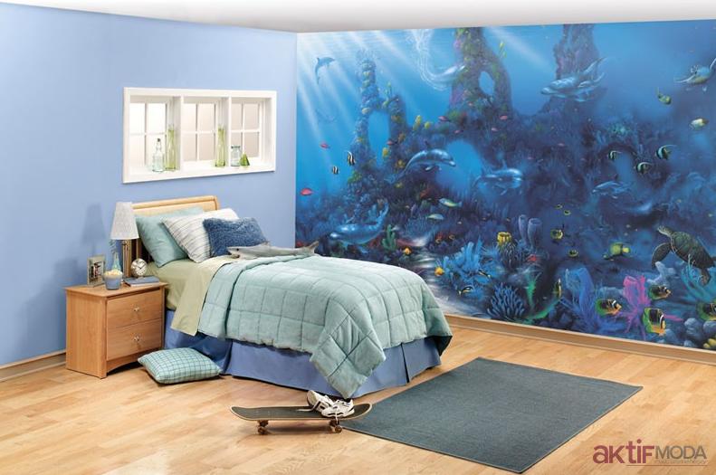 Çocuk Odası Üç Boyutlu Duvar Kağıdı Modelleri