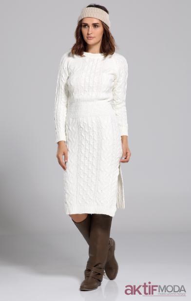 Örgülü Triko Elbise Modelleri 2019