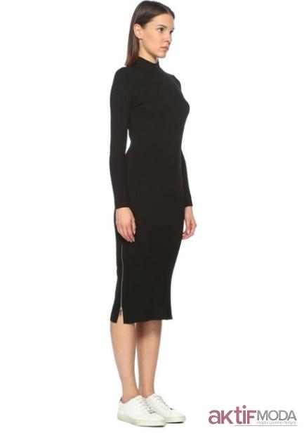 Balıkçı Yaka Triko Elbise Modelleri 2019