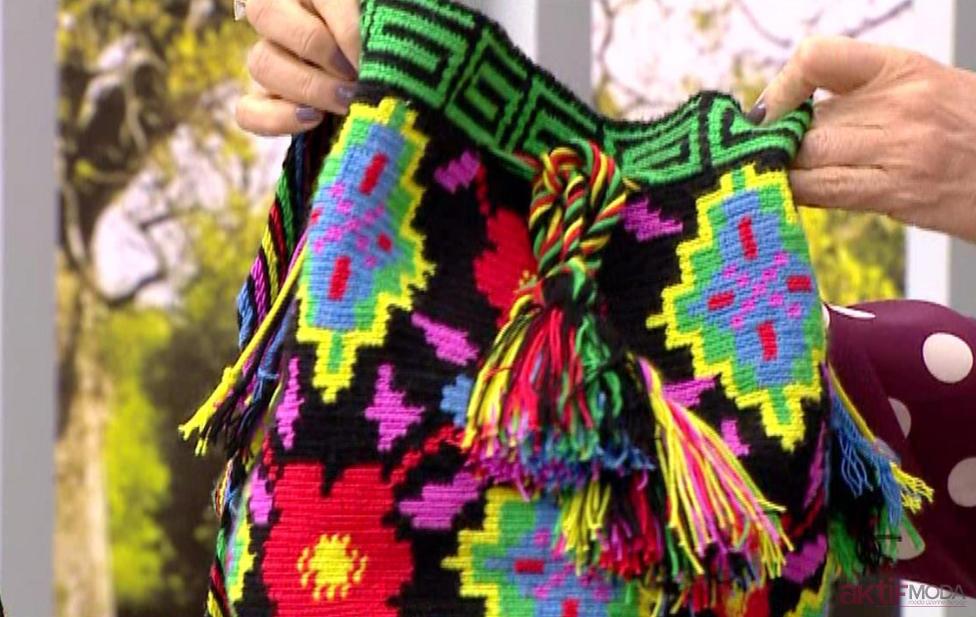 Desenli Wayuu Çanta Modelleri