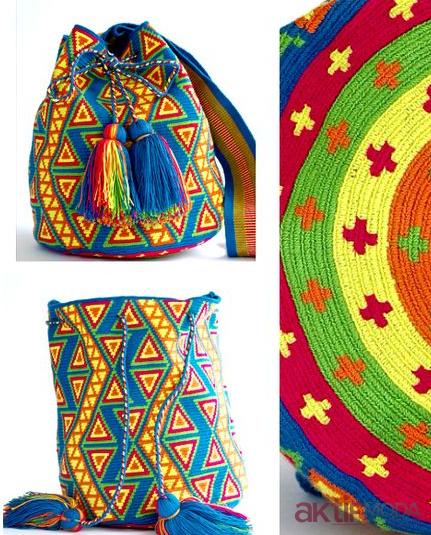 Renkli Desenli Wayuu Çanta Modelleri