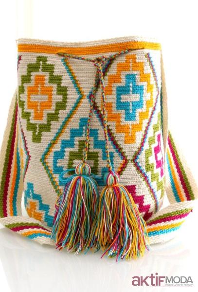Renkli Wayuu Çanta Örnekleri
