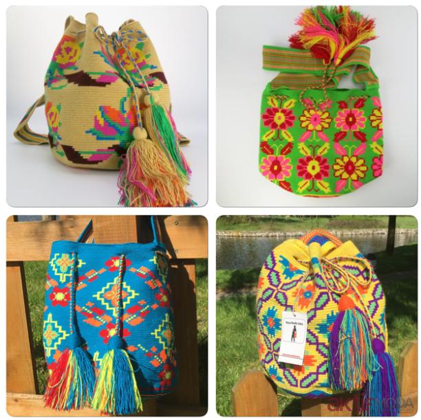 Renkli Wayuu Çantalar