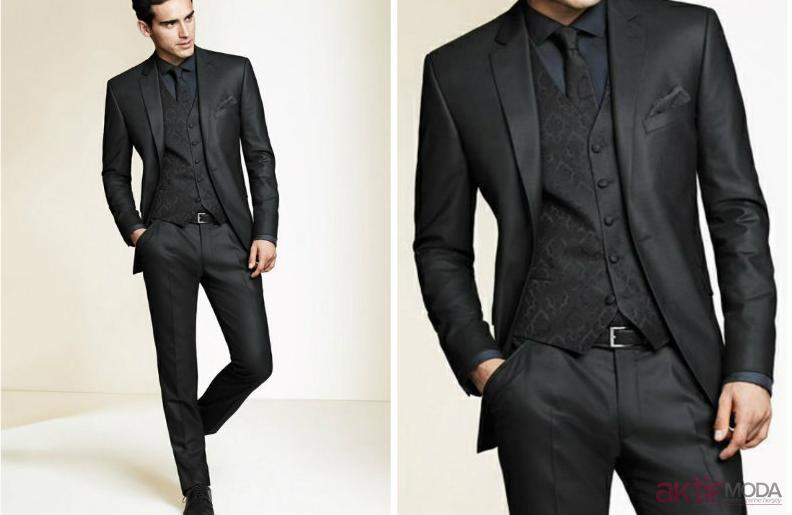 Siyah Takım Elbise Modelleri