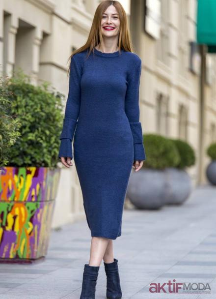 Uzun Triko Elbise Kombinleri