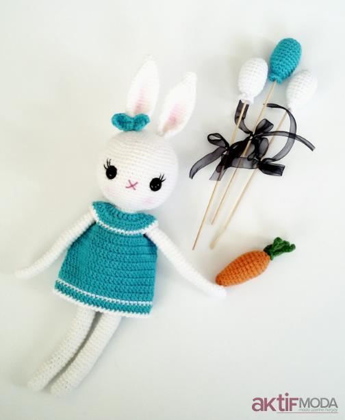 Amigurumi Minik Tavşan Oyuncağı