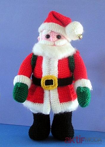 Amigurumi Noel Baba Oyuncak