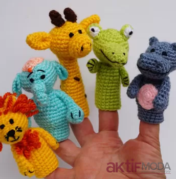 Amigurumi Parmak Kuklası Hayvanlar Alemi