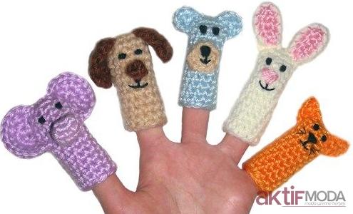 örgü oyuncak parmak kukla yapılışı , amigurumi free pattern finger ... | 300x495