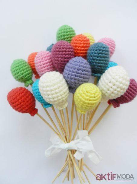 Amigurumi Renkli Baloncuklar
