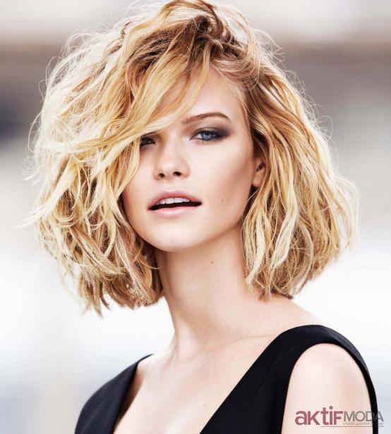 Kıvırcık Küt Saç Modelleri 2019