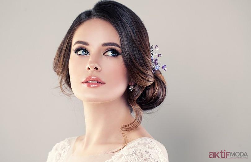 Zarif Gelin Makyajı Modelleri 2019