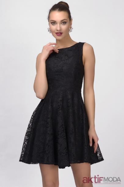 Dantelli Kloş Elbise Modelleri 2019