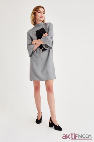 e701e53ccf458 Kısa Kışlık Elbise Modelleri 2019 - Aktif Moda - Aktif Moda
