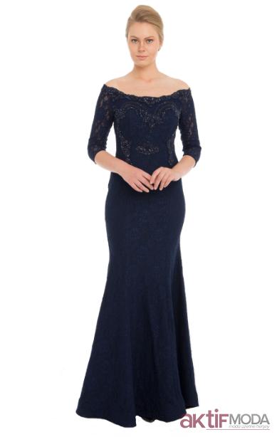 Kısa Kol Abiye Elbise Modelleri 2019