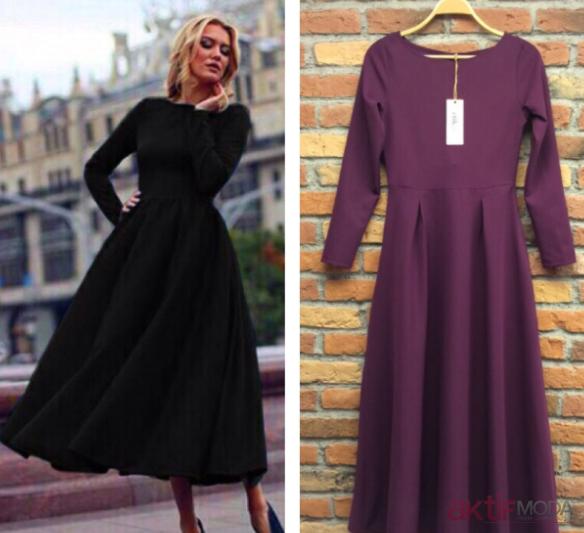 Kloş Elbise Kombinleri 2019