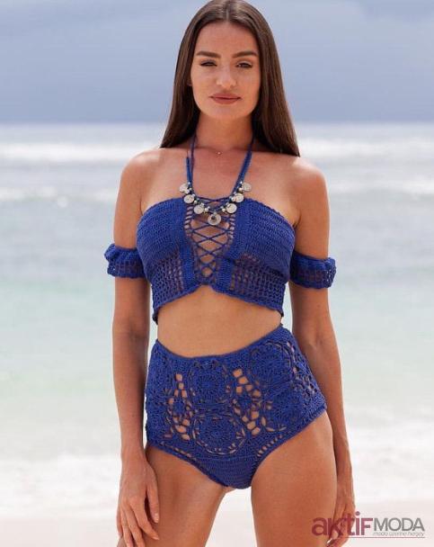 Plaj Örgü Bikini Modelleri