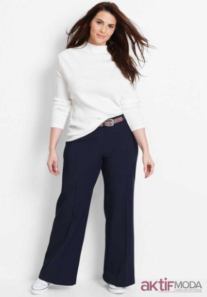 Yüksek Belli Bol Pantolon Modelleri 2019