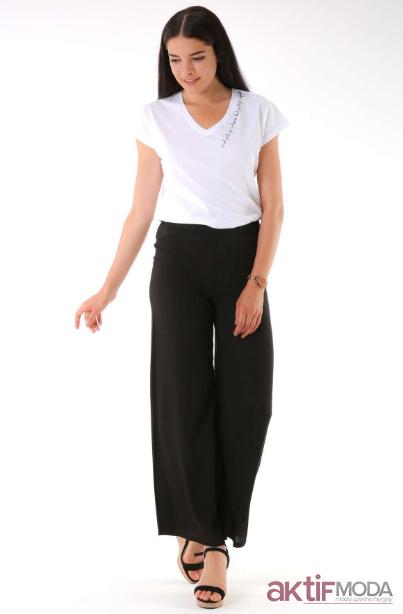 Yazlık Salaş Pantolon Kombinleri 2019