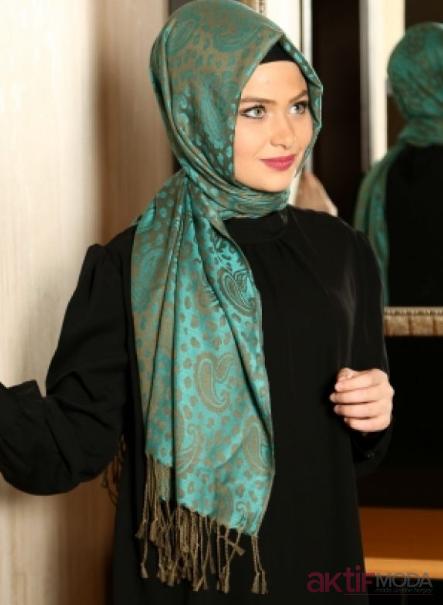 2019 Yeşil Armine Eşarp Modelleri