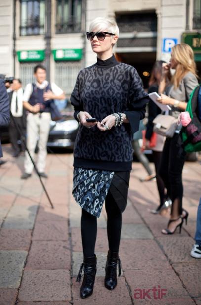 Desenli Kazak Sonbahar Giyim Kombinleri 2020