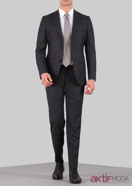 Kömür Siyahı Takım Elbise Modelleri 2020