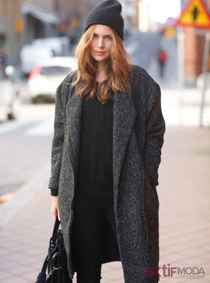 Palto Kış Sokak Modası 2019