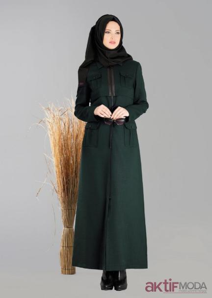Sefamerve Yeşil Pardesü Modelleri 2019