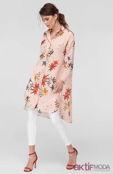 Trendyol Desenli Gömlek Tunik Modelleri 2019