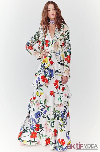 2019 Çiçekli Yazlık Elbise Modelleri